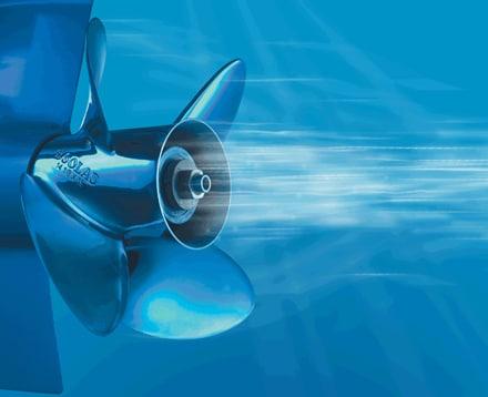 Boat propeller aeration
